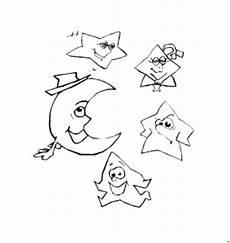 Sterne Und Mond Malvorlagen Sterne Und Mond Ausmalbild Malvorlage Phantasie