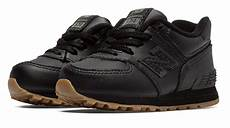 lyst new balance 574 leather in black for