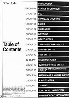 auto manual repair 1996 mercury tracer engine control 1996 ford escort and mercury tracer repair shop manual original
