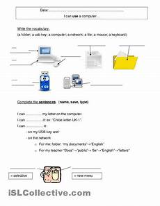 free printable computer use worksheets computers technology picture i can use a computer