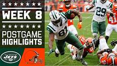 jets browns nfl week 8 game highlights youtube