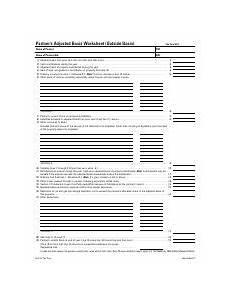 partners adjusted basis worksheet pdf partners adjusted basis worksheet outside basis tax year