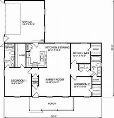 1400 square feet house plans traditional style house plan 3 beds 2 baths 1400 sq ft