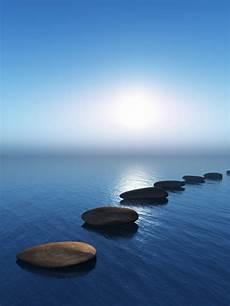 Wasser Und Steine - row of stones in the water photo free
