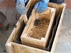 wassertrog aus beton selber machen pflanzk 252 bel aus torfbeton selber bauen