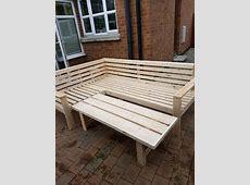 Wooden Corner Sofa Wood Garden Patio Outdoor Furniture In