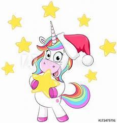 quot weihnachtliches einhorn vektor illustration quot stockfotos