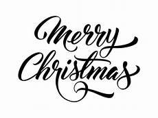 merry christmas handwritten text vector free download