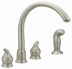 moen stainless steel kitchen faucet moen 7786sl monticello series 2 kitchen faucet w side spray stainless steel modern