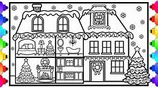 how to draw and color a house with decorations