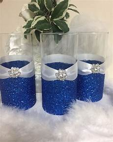 wedding centerpieces ideas royal blue wedding centerpiece glitter vase bridal bouquet holder
