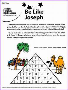 be like joseph and forgive puzzle kids korner biblewise children s bible curriculum for