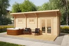 sauna cabin with terrace oliver ii 11m2 70mm 6 x 2 m