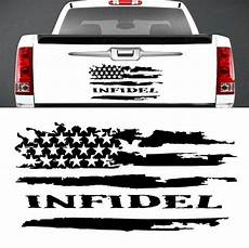 infidel distressed american flag vinyl graphic decal tailgate ford chevy dodge ebay