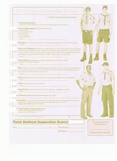 uniform inspection sheets troop 4 grapevine tx