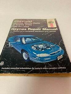 online car repair manuals free 1995 chevrolet impala user handbook chevrolet lumina montecarlo impala 1995 2003 haynes repair manual ebay
