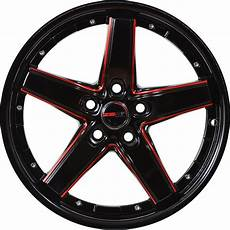 4 gwg wheels 17 inch black drift rims fits 5x115