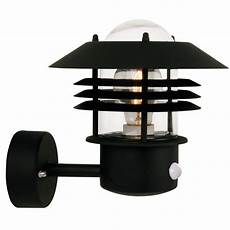nordlux vejers up outdoor wall light w sensor black