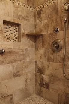 Bathroom Ideas Earth Tones by Shower Design With Beige Earth Tone Tile And Mosaic