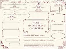 cornici illustrator un set di cornici vintage assortiti illustrazioni