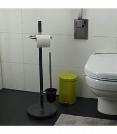 dérouleur papier toilette sur pied set wc d 233 rouleur papier wc avec brosse gris anthracite