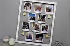 bilder mit bilderrahmen diy ausgefallener bilderrahmen mit fotos im polaroid stil