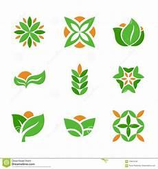 simbolos naturales concepto sistema de la plantilla verde de los logotipos s 237 mbolos naturales y del eco creativos con forma