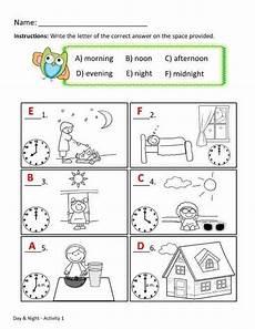 time of day worksheets for kindergarten 3596 pin on worksheets