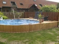 Pool In Erde Einbauen - intex frame pool in erde eingelassen schwimmbaddecks