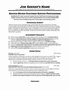 customer service resume sles free sle resumes