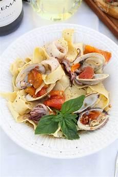 italian seafood dinner with la crema at the kitchen door