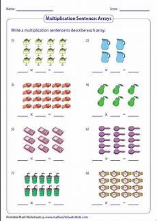 addition and multiplication sentence worksheets for grade 2 9504 writing multiplication sentences arrays klasse 2 mathe arbeitsblatt mathe