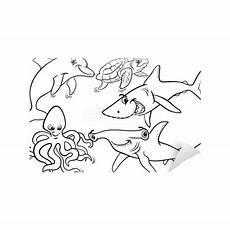 Malvorlagen Fische Meer Fototapete Leben Im Meer Tiere Und Fische Malvorlagen