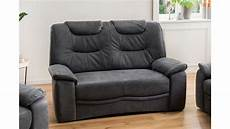 2 sitzer couch 2 sitzer grande sofa couch in stoff dunkelgrau inkl