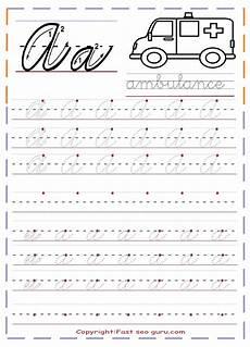 cursive writing worksheets free alphabet 21680 printable cursive handwriting practice sheets letter a