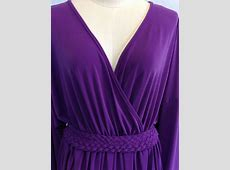 Women's Muslim Vintage 70's Purple Evening Kimono Long