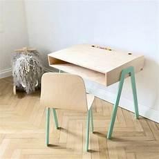 bureau et chaise enfant 2 6 ans mint in2wood pour