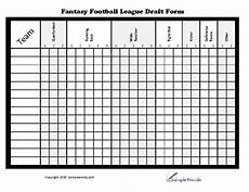 printable fantasy football league draft form