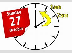 what day do the clocks go back