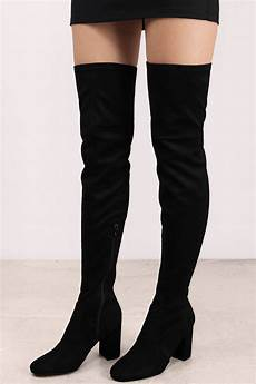 black boots zip up boots the knee boots