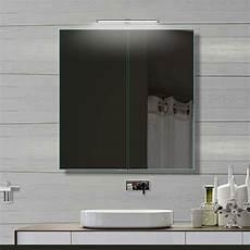 alu spiegelschrank 61x70cm mit led beleuchtung bad spiegel