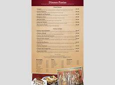 Italian Dinner Menu   Traditional Italian Food   Italian