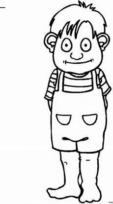 kleiner junge schaut lieb ausmalbild malvorlage comics
