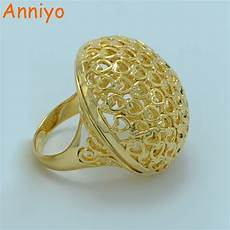 anniyo big ring for men gold color