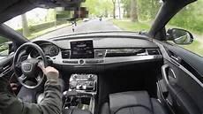 Audi Pre Sense Plus - audi a8 d4 pre sense plus braking guard system at work