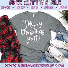 merry christmas y all free design for cricut and silhouette