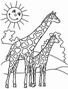 giraffes coloring pages to and print for free