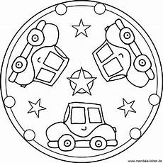 Kinder Malvorlagen Mandala Mandala Template With Three Cars Coloring Pages For