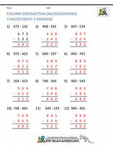 free 3 digit subtraction worksheets for 2nd grade 10572 3 digit subtraction worksheets