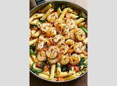 Shrimp Pasta Recipe with Tomato and Spinach ? Best Shrimp